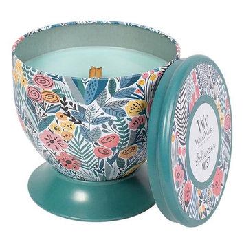 WoodWick Gallerie Tin Saltwater Mist 8.5-oz. Candle Jar, Blue
