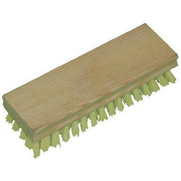 Zephyr 52407 Yellow Polypropylene Hand Scrub Brush with Square Wood Block, 7