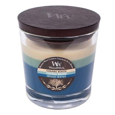 WoodWick Tri-Pour Cabana Beach, Cactus Water, & Indigo Waves 10.5-oz. Candle Jar, Multicolor
