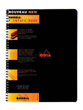 Rhodia 4 Color Book 9 in. x 11 3/4 in, black [pack of 5]