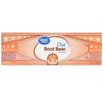 Wal-mart Stores, Inc. Great Value Diet Root Beer, 12 fl oz, 12 pack