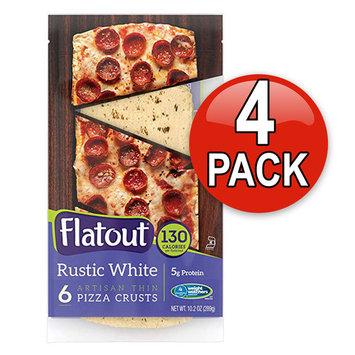 Flatout Thin Crust Flatbreads Artisan Pizza, 4 Pack (Rustic White)