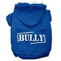 Mirage Pet Products Bully Screen Printed Pet Hoodies Blue Size XXXL (20)