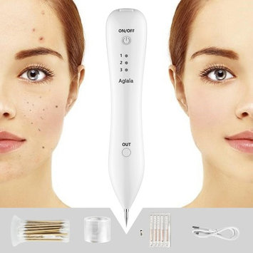 Aglaia Mole Removal Pen, Skin Tags & Spots Removal Kit with Cover Film Cotton Swab, 3 Modes Anti-scar Feature for Body Facial Mole Wart Freckle Nevus Dark Dot Tattoo Remover
