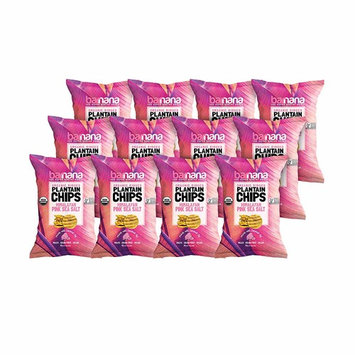 Barnana Organic Plantain Chips - Himalayan Pink Salt - 1.5 Ounce, 12 Pack Plantains - Barnana Salty, Crunchy, Thick Sliced Snack - Best Chip For Your Everyday Life - Cooked in Premium Coconut Oil [Pink Salt]
