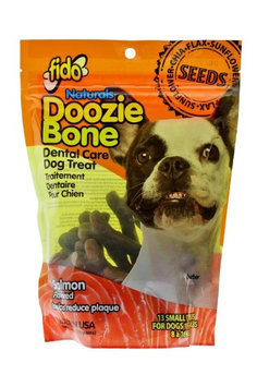 Fido Naturals Doozie Bone - Dental Care Dog Treat, Salmon Flavored, 13ct (Small Treats)