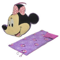 Fisher-price Disney Mickey Mouse & Friends Minnie Mouse Travel Pillow & Convertible Slumber Sack Set