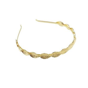WINOMO Wedding Bridal Leaf Style Tiara Hair Barrettes (Golden)