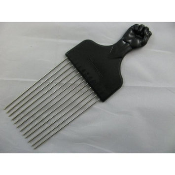 Fist handle design longer length metal teeth afro hair comb. Ideal for untangling hair. by Excellence