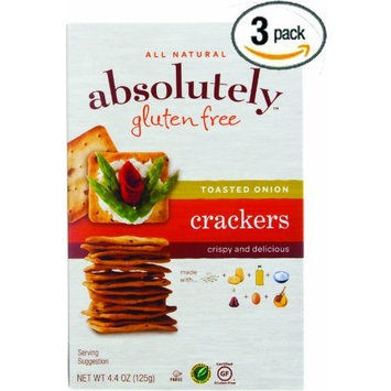 Absolutely Gluten Free Toasted Onion Crackers (Pack of 3)