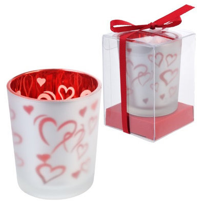 Fantado BLOWOUT Red Hearts Tealight Candle Holder