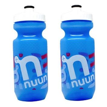 Nuun Water Bottle 21oz Blue Plastic Hydration Bottle BPA-Free With Pop-Top Cap