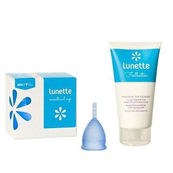 Lunette Menstrual Cup - Starter Kit - Blue Model 2 & Wash 100 mL