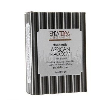Shea Terra Organics Authentic African Black Soap 5oz. by Shea Terra Organics BEAUTY