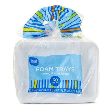 Smart Sense Foam Trays - 30 Count