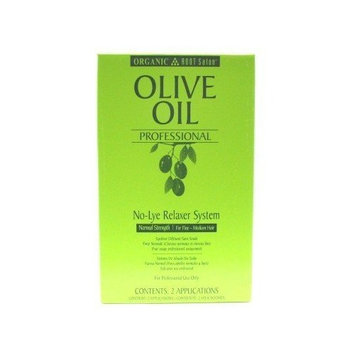 Organic Root Olive Oil Professional No Lye Relaxer Normal 2 Case # 11125 (3-Pack) with Free Nail File