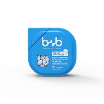 Bb b+b Naproxen Sodium Caplets, 50-Count
