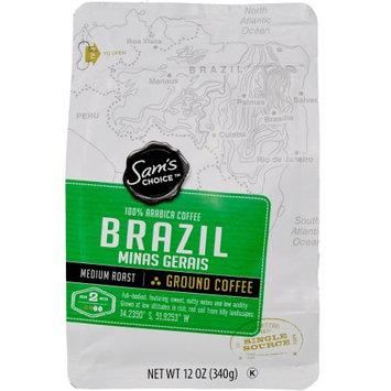 Ims International Marketing Sy Samâ s Choice Brazil Minas Gerais Ground Coffee, Medium Roast, 12 oz