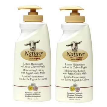 Canus Nature Moisturizing Body Lotion (Pack of 2) with Goat Milk and Soybean Oil, 11.8 oz. each