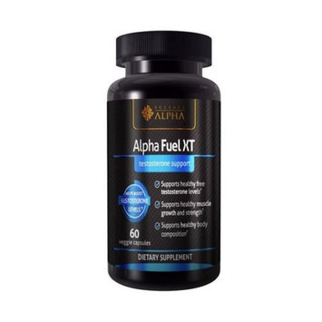 Testosterone Booster Alpha Fuel XT — Naturally Increases Strength, Stamina and Endurance — Promotes Lean Muscle Growth and Fat Burning — 60 Capsules