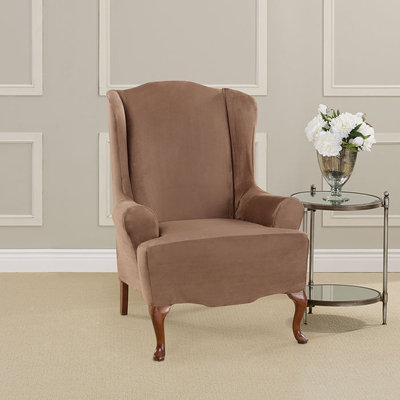 Sure Fit, Inc. Ultimate Heavyweight Stretch Faux Suede Wing Chair Slipcover