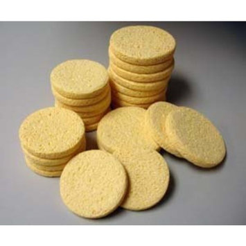 Natural Beige Cleansing Facial Sponges - 12 Pack by Sponge Producers