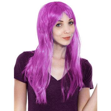 Women's Girl Long Straight Full Hair Wig Costume Halloween, Pruple