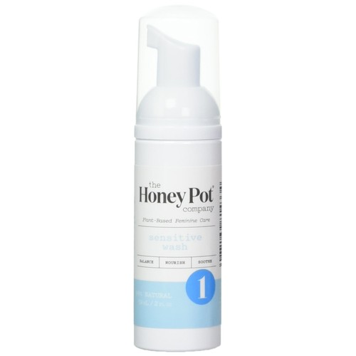 The Honey Pot Sensitive Wash Travel Size 2oz. – Natural, Herbal Feminine Wash for Travel Pack, For Sensitive Skin Types