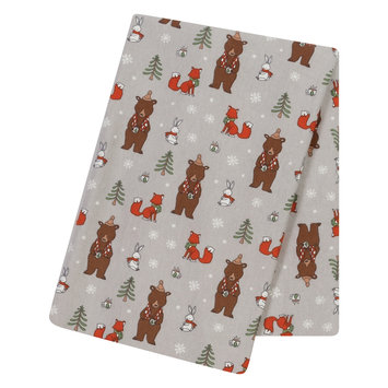 Test Trend Lab Cup of Cocoa Jumbo Deluxe Flannel Swaddle Blanket, Multi-Colored