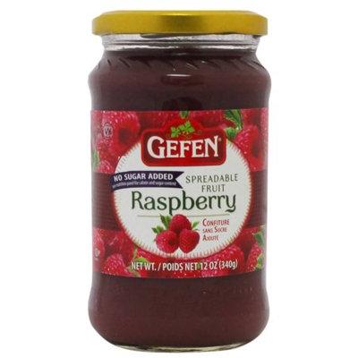 Gefen Raspberry Preserves, No Sugar Added, 12 Oz