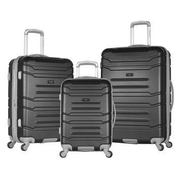 Luggage America Inc. Olympia USA Denmark 3-Piece Spinner Set W/Hidden Compartment
