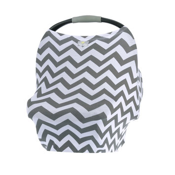 Itzy Ritzy Milk Boss Multi Use Infant Cover Grey Chevron - Itzy Ritzy Diaper and Baby Accessories