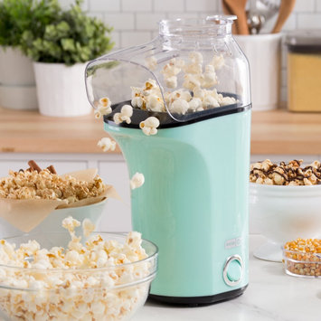 Dash Fresh Pop Hot Air Popcorn Popper, Blue