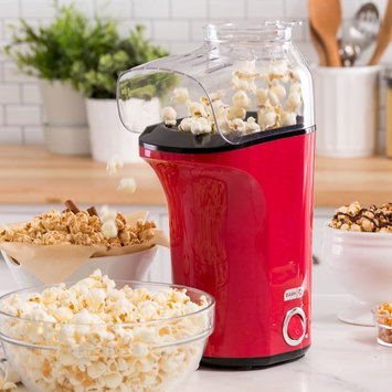 Dash Fresh Pop Hot Air Popcorn Popper, Red