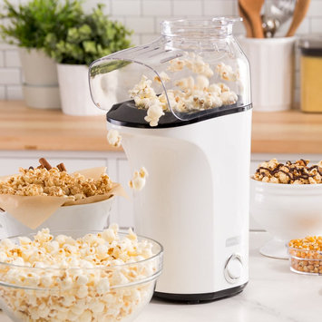 Dash Fresh Pop Hot Air Popcorn Popper, White