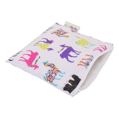 Itzy Ritzy Snack Happens Reusable Snack and Everything Bag Llama Glama - Itzy Ritzy Diaper Bags & Accessories