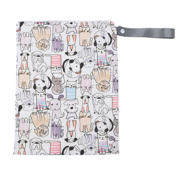 Itzy Ritzy Travel Happens Sealed Wet Bag with Handle Raining Cats & Dogs - Itzy Ritzy Diaper Bags & Accessories