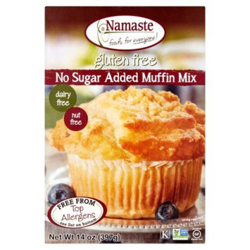 Namaste Foods, Gluten Free Sugar Free Muffin Mix, 14-Ounce Bags (Pack of 2)