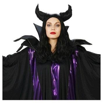 Horned Maleficent Women's Costume Wig Black