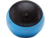 Accessory Power GG-BLUESYNC-OR3SB Blue GOgroove BlueSYNC OR3 Stylish Bluetooth Portable Wireless Urban Paint Splatter Speaker