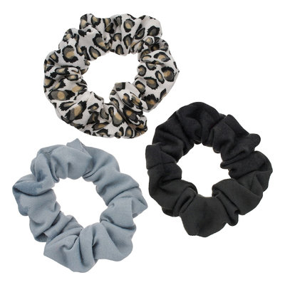 Mudd® Leopard Scrunchie Hair Tie Set, Women's, Multicolor