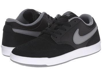 Nike Focus Grade School Boys' Skate Shoes (Black White Cool Gray)