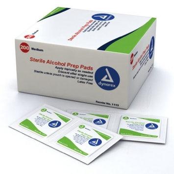3 Pack Dynarex Alcohol Prep Pads Medium #1113 200 Latex Free Sterile Pads Each
