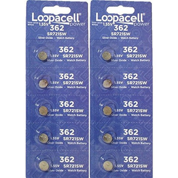 10 Loopacell SR721SW Sr-721sw - 361/362 Watch/calculator Battery