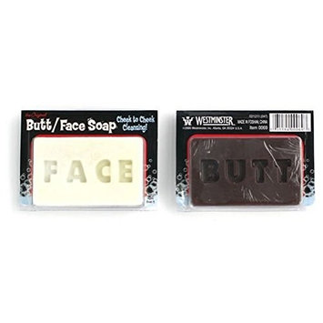Set of 2 Westminster Butt Face Soap bundled by Maven Gifts