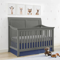Dorel Asia Baby Relax Hollis 4-in-1 Convertible Crib, Graphite gray