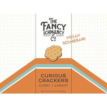 The Fancy Schmancy Co. - Curious Crackers - Organic Grains, Creative Entertaining Snacks, 5 Ounce Box (Curry + Carrot)