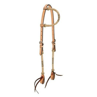 Jt Intl Distributers Inc Royal King Single Ear Headstall with Braided Rawhide