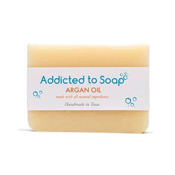 Addicted to Soap – Old Fashioned Natural Shampoo Bar 5 Ounces Eco-Friendly Solid Bar Shampoo for Men & Women Organic Coconut Oil Sulfate Free Leaves Hair Shiney Soft (Argan Oil Shampoo Bar)