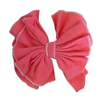 6 Inch Stitched Floppy Cheer Bow Hair Clip for Girls (Motique Accessories) - Hot Pink